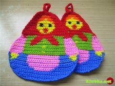 Love these crochet hot pot holders from www.klubka.net - lots of great pictures/ideas!