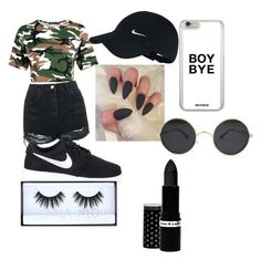 """""""Untitled #1"""" by angelsentfromabove ❤ liked on Polyvore featuring Topshop, NIKE, Huda Beauty and Hard Candy"""