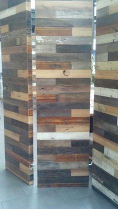 Reclaimed Wood Screen Room Divider Main Bedroom