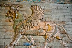Winged Lion Babylon Gate Relief at the Louvre Museum Paris France by mbell1975, via Flickr