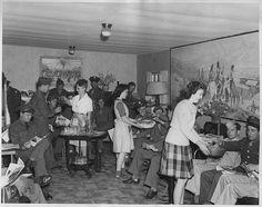 USO Railroad Lounge, WWII. Pocatello, ID; USA. | Flickr.com - cuzzincraig