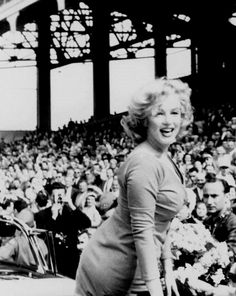 """Marilyn Monroe at Ebbets Field, 1957. """