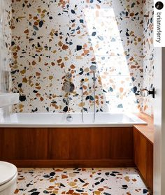Terrazzo with a large pattern❤️