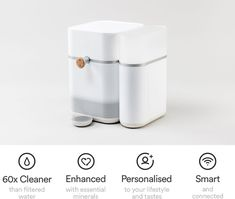 Mitte replaces bottled water with a smart home water system. Create healthy water, pure and personalized with minerals.