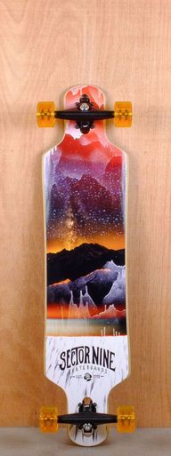 """The Sector 9 40"""" Meridian Red is designed for carving and cruising."""