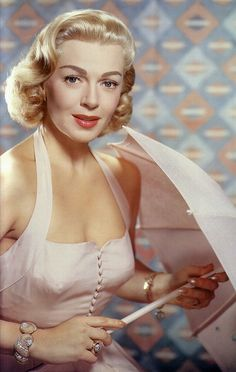 ~Lana Turner looking sweetly pretty in the softest shade of whisper pale pink~