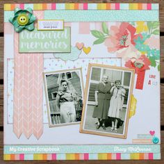 My Creative Scrapbook July Main Kit Simple Stories, Echo Park Paper, Kaisercraft Scrapbooking, Papercrafting