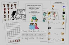 FREE Educational Printables for Kids! {prayer for a child}