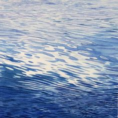 Clouds Reflected by Amy Arnston on Curiator, the world's biggest collaborative art collection. Watercolor Water, Watercolor Landscape, Water Abstract, Abstract Art, Water Ripples, Water Waves, Seascape Paintings, Watercolor Paintings, Watercolours
