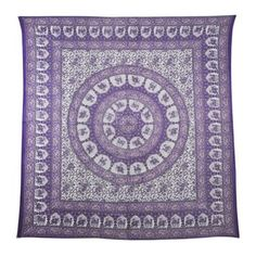 Enhance the good vibes and zen style of your decor with the Chandini Wheel  Mandala tapestry!  Mandalas represent a sacred geometry that will bring positive energy to your space, as well as brighten up your walls! Available in a variety of colors, This queen-sized wall hanging can also be used as a tablecloth, bedspread, picnic blanket, and more! $20