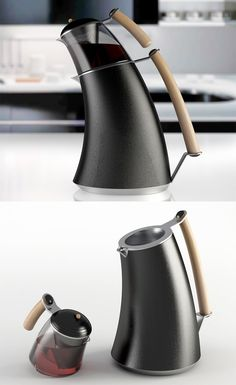 The 'Reverence tea brewer' makes the viewer feel a certain way which makes it memorable, to some, it may look lopsided, leaning forward & ready to fall, creating a visual tension, to others it may look calm, brooding, almost bowing down in prayer / thought... READ MORE at Yanko Design !