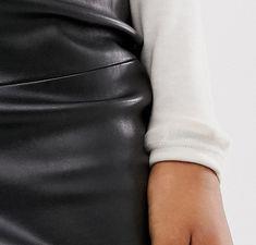 Mango - Jupe fourreau imitation cuir - Noir | ASOS Asos, Leather Skirt, Skirts, Fashion, Black Leather, Accessories, Moda, Leather Skirts, Skirt