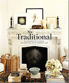 Designers Mark Sikes and Michael Griffin's living room mantle & table vignettes for House Beautiful Dec/Jan 11