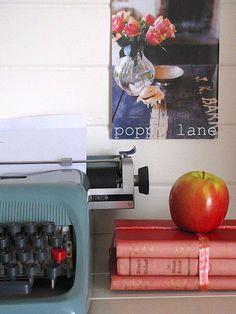 vintage turquoise typewriter #DashandAlbert10Year
