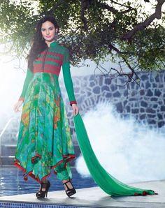 Buy Anarkali Suits and designer Anarkali Salwar Kameez at a great price. For largest collection of Anarkali Suit designs at parisworld. Latest Anarkali Suits, Salwar Suits, Pakistani Suits, Indian Salwar Kameez, Salwar Kameez Online, Indian Anarkali, Indian Dresses, Indian Outfits, Indian Wedding Wear