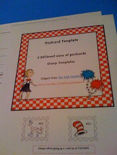 Free Seuss Postcard Template  Free