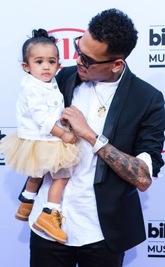 Chris Brown Picks Daughter Royalty as His Adorable Date for the 2015 Billboard Music Awards?See the Pics!