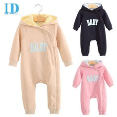 Baby & Children Romper,Cute Hooded Jumpsuit,Cotton Baby Clouth。three color.