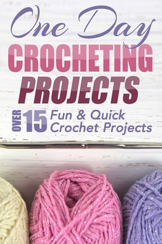 One Day Crocheting Projects: Over 15 Fun & Quick Crochet Projects (crochet patterns, crochet beginners, crocheting, knitting, cross-stitching, one day crochet, one day afghan, afghan patterns):Amazon:Kindle Store