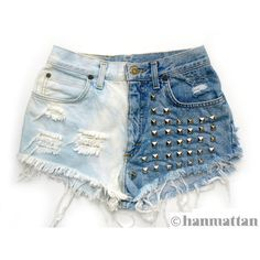 """ALL SIZES """"DOMINO"""" Vintage Levi high-waisted denim shorts blue... ($40) ❤ liked on Polyvore"""