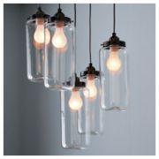 Pendant Lighting. Love this idea for warm dining rm lighting