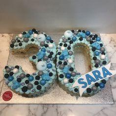 tarta numero azul