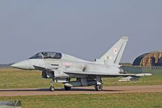 RAF Eurofighter Typhoon II T1 ZJ805 of 29 sqn: an early model, devoid of Pirate sensor.