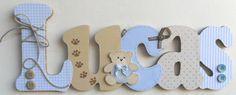 Nome decorado em mdf e scrap personalizado para decoração de quarto, porta maternidade, festas... Tema e cores a sua escolha R$ 74,36