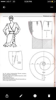 Skirt Patterns Sewing, Sewing Patterns Free, Clothing Patterns, Circle Skirt Pattern, Simple Dress Pattern, Wedding Dress Patterns, Wedding Dresses, Modelista, Fashion Design Drawings