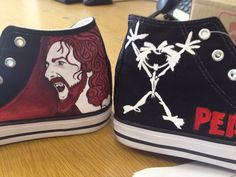 Pearl Jam Hand Painted High Tops by andreabetteridge on Etsy, $78.00