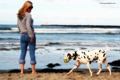 a girl and her dog | A Dog's Beach