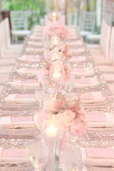 Glitter and Blush Winter Park Wedding at Casa Feliz Pink Wedding Theme, Pink And Gold Wedding, Sparkle Wedding, Wedding Themes, Dream Wedding, Wedding Day, Party Themes, Paris Wedding, Wedding Reception