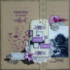 2 pages avec les pochoirs Florilèges Design