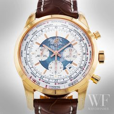 This Breitling Transocean Chronograph bears the names of 24 world cities, which represent the 24 major time zones. Distress Signal, Slide Rule, Breitling Watches, Time Zones, Automatic Watch, Chronograph, Bears, Cities, Names