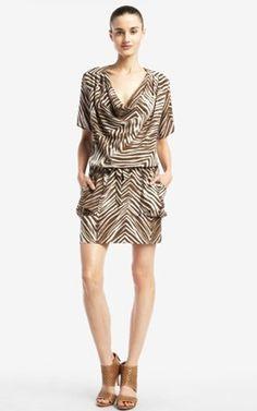 Bcbg Ayshea Stripes Printed Silk Max Azria Dress Short 01 162 00 Herve Leger Bandage 70 Off Outlet