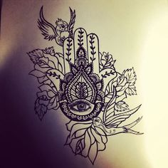 Image result for hamsa in a bed of flowers