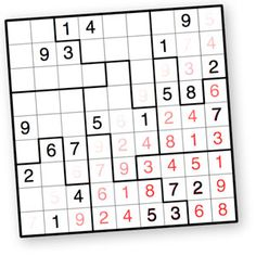 1000s of Jigsaw Sudoku puzzles to print and solve