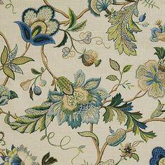 Pindler & Pindler FLORANOVA SAPPHIRE Fabric