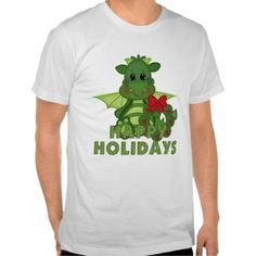 Christmas Dragon Holiday cartoon t-shirt