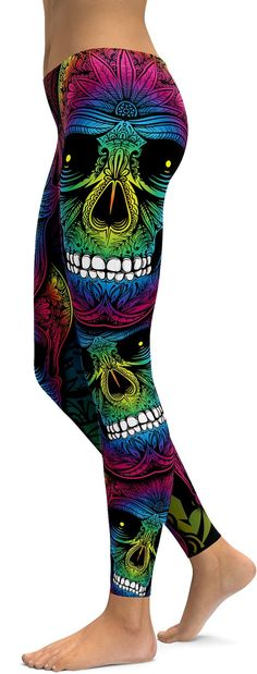 Rainbow Skull Leggings Within the last 30 years, the evolution of fashion has been doing Skull Leggings, Women's Leggings, Leggings Are Not Pants, Cheap Leggings, Tights, Leggings Style, Printed Leggings, How To Wear Leggings, Best Leggings