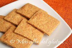 Más allá del gluten...: Galletas Saladas con Almendras y Linaza (Receta GFCFSF, Vegana)