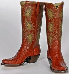 Oak Leaves, cowgirl boots by Lisa Sorrell