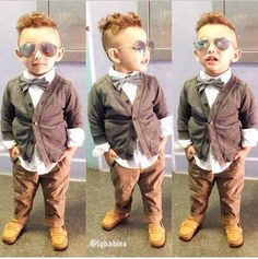 Little boy fashion.my I know a lil boy who would look so cutely adorable in this! Trendy Boy Outfits, Little Boy Outfits, Cute Outfits For Kids, Baby Boy Outfits, Cute Kids, Young Boys Fashion, Toddler Boy Fashion, Little Boy Fashion, Little Boy Haircuts