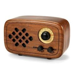 Buy Rerii Handmade Walnut Wood Portable Bluetooth Speaker, Bluetooth Wireless Speakers with Radio FM/AM, Nature Wood Home Audio Bluetooth Speakers with Super Bass and Subwoofer Radios, Wood Speaker, Bose, Wireless Speakers For Home, Walnut Wood, House In The Woods, Ebay, Nature, Blue Tooth