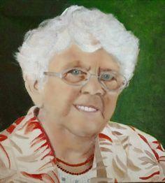 Schilderij van mijn 90 jarige moeder