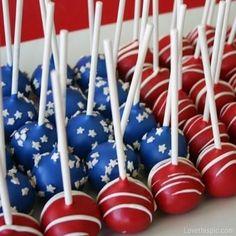 Americana cake pops summer food sweet stars stripes america 4th of july