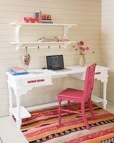 Escritorio tocador para ni a muebles madera - Tocador madera nina ...
