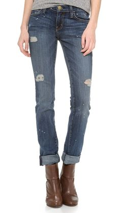 f22453ca12d Current/Elliott The Skinny Jeans Womens Distressed Jeans, High Waisted  Distressed Jeans, Denim