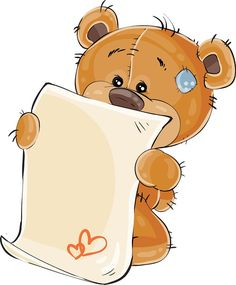 Vector illustration of a brown teddy bear misses and wrote a love letter. Print, template, design element Vector illustration of a brown teddy bear misses and wrote a love letter. Tatty Teddy, Baby Teddy Bear, Brown Teddy Bear, Writing A Love Letter, Cute Banners, Christmas Teddy Bear, Bear Girl, Friend Book, Baby Painting
