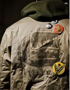 thinking we need a mini-button-maker to deck out your new green parka